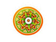 Concept of celebrating Happy Pongal festival. Stock Image