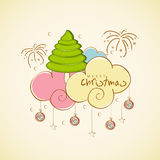 Concept of celebrating Merry Christmas. Stock Photography