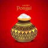 Concept of celebrating South Indian festival Happy Pongal. Royalty Free Stock Photos