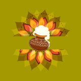 Concept of celebrating South Indian festival Happy Pongal. Royalty Free Stock Photo