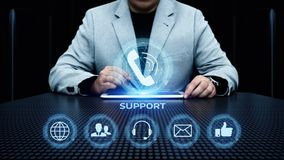 Concept central de technologie d'affaires d'Internet de service client de support technique image stock