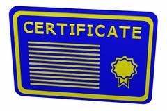 Concept: certificaat Royalty-vrije Stock Foto
