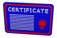Concept: certificate Royalty Free Stock Image