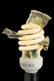 Concept CFL d'économie d'argent Photo libre de droits