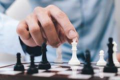 Concept, chef et succès et stratégie d'affaires d'échecs Images libres de droits