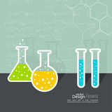 The concept of chemical science research Stock Photos