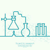 The concept of chemical science research Stock Photo