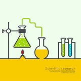 The concept of chemical science research lab Royalty Free Stock Photography