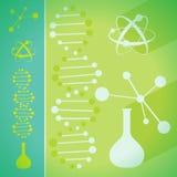 Concept chemie en biotechnologiewetenschap Stock Fotografie
