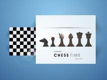 Concept of chess with board and its figures. Stock Photography