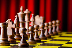 Concept of chess game. With pieces Royalty Free Stock Images