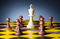 Concept of chess game Stock Images