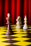 Concept of chess game. With pieces Stock Images