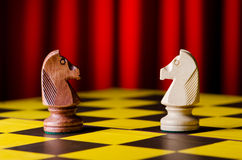 Concept of chess game. With pieces Royalty Free Stock Photo