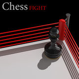 Concept. chess pawn on a boxing Royalty Free Stock Photo