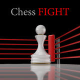 Concept. chess pawn on a boxing Royalty Free Stock Photography