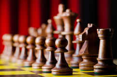 Concept of chess  with pieces. Concept of chess game with pieces Stock Photo