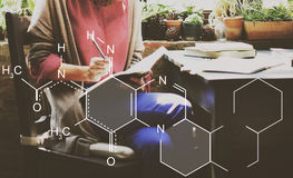 Concept chimique de Mendeleev de chimie de Tableau périodique photos libres de droits