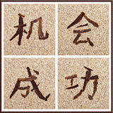 Concept Chinese characters for chance and success Royalty Free Stock Photography
