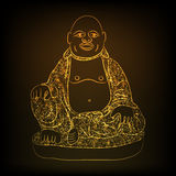 Concept of Chinese God. Royalty Free Stock Images
