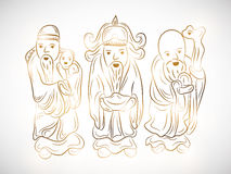 Concept of Chinese Gods. Stock Images