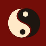 Concept of chinese with symbol Yin-Yang. Royalty Free Stock Images