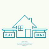 Concept of choice between buying and tenancy Stock Photo