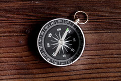 Concept of choice way in business compass top view Stock Image