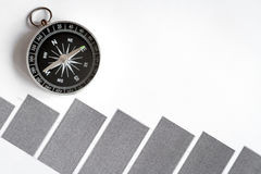 Concept of choice way in business compass top view Stock Photo