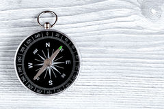 Concept of choice way in business compass top view Royalty Free Stock Photos