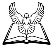 Concept chrétien de colombe de bible illustration libre de droits