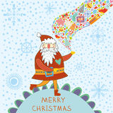 Concept Christmas cartoon card Royalty Free Stock Photo