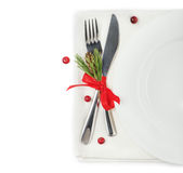 The concept of the Christmas menu Royalty Free Stock Image