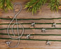 Christmas treble clef Stock Photos