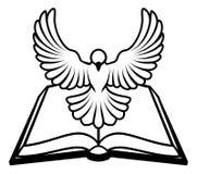 Concept chrétien de colombe de bible Image stock
