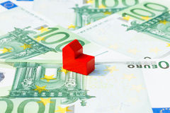 Concept church loan income euro red Royalty Free Stock Images