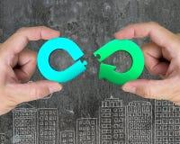 Concept circulaire d'économie image stock