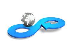 Concept circulaire d'économie, rendu 3D Photographie stock libre de droits