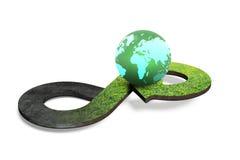 Concept circulaire d'économie, rendu 3D Photos libres de droits