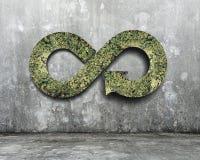 Concept circulaire vert d'économie images stock