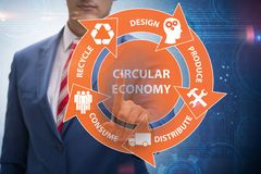 The concept of circular economy with businessman royalty free stock images
