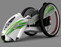 The concept of a city electric vehicle. 3D illustration. vector illustration