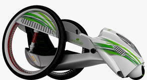 The concept of a city electric vehicle. 3D illustration. The concept of a city electric vehicle. A cost-effective vehicle. 3D illustration stock illustration