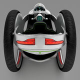 The concept of a city electric vehicle. 3D illustration. The concept of a city electric vehicle. A cost-effective vehicle. 3D illustration vector illustration
