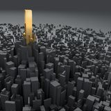Concept of city (object) center Royalty Free Stock Image