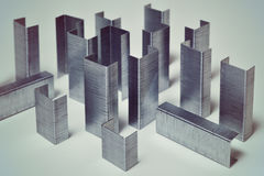 Concept of cityscape  office staples Royalty Free Stock Photo