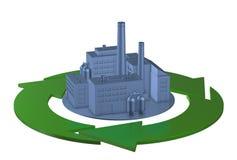 Concept clair d'usine d'environnement illustration de vecteur