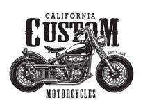 Concept classique de logotype de moto de vintage illustration stock