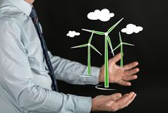 Concept of clean energy Stock Photo