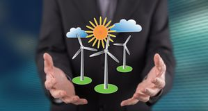 Concept of clean energy royalty free stock image